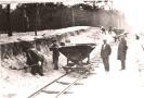 Строительство первой линии трамвая, устройство насыпи